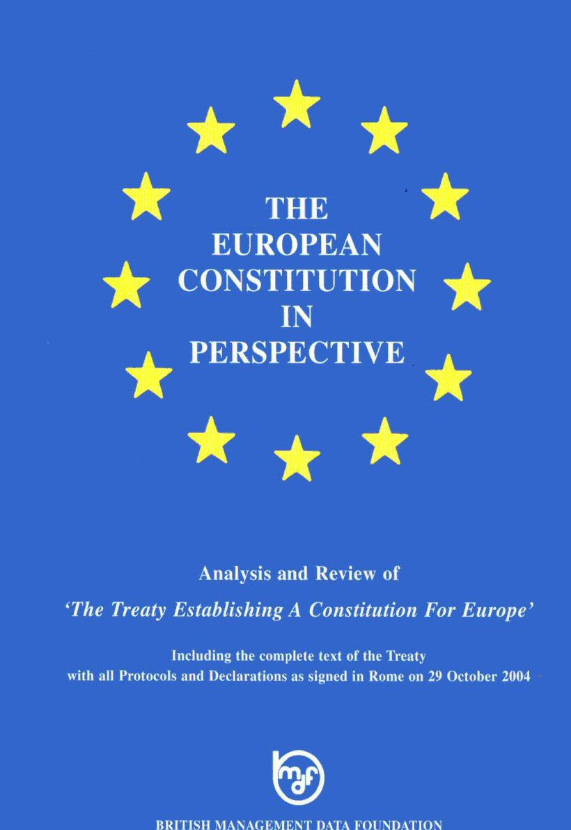 The European Constitution in Perspective
